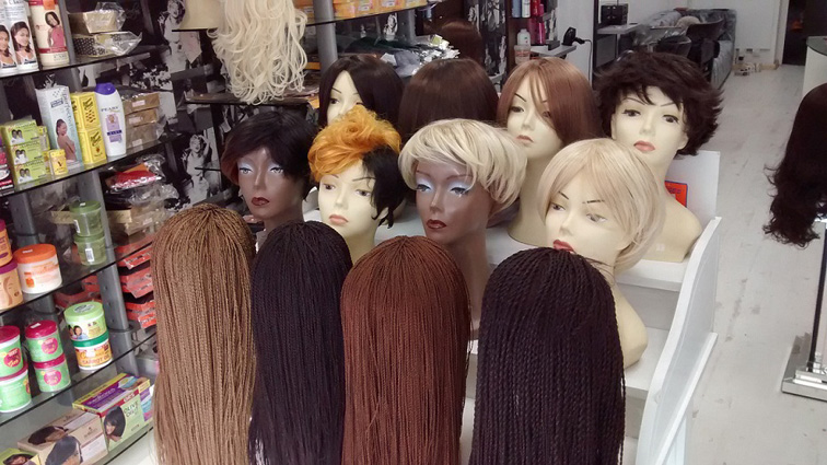 hairdressers and beauty salon glossy locks wigs