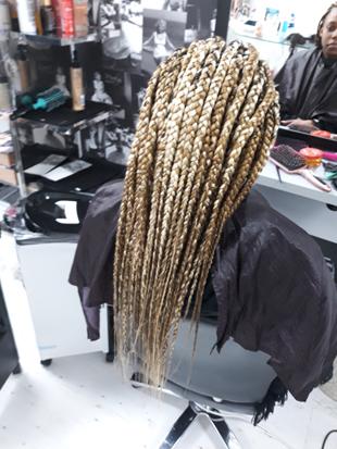 senegalese twists colour braiding